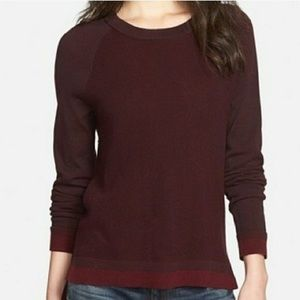 Rag and bone size small maroon knit sweater